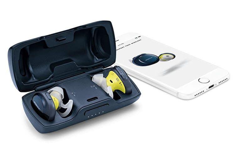 Bose SoundSport Free: Ladeschatulle, Ohrhörer und Smartphone-App