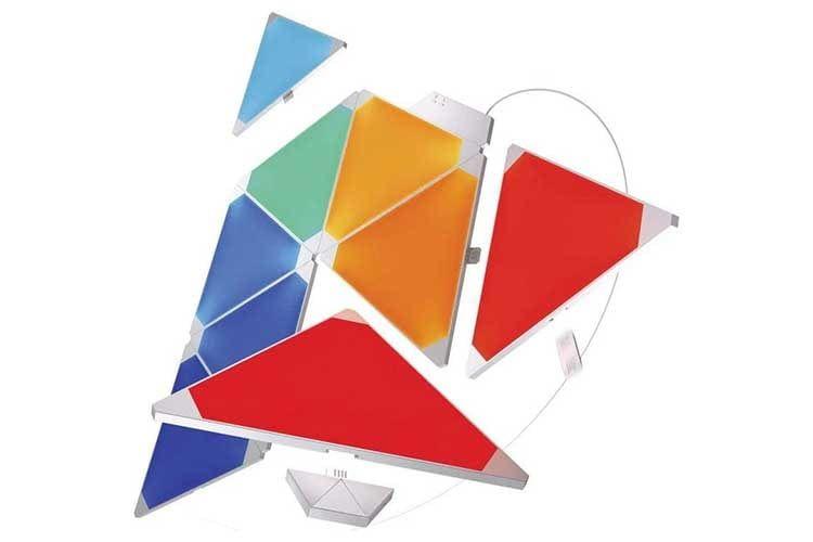 Das Nanoleaf Panels Rhythm Smarter Kit bringt Licht-Design in jeden Raum und ändert die Farbe je nach Musik