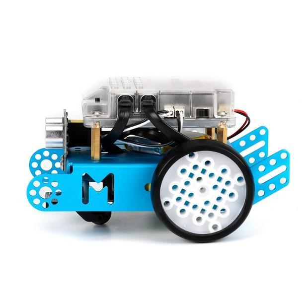 Seitliche Abbildung des mBot Roboter-Bausatz von Makeblock