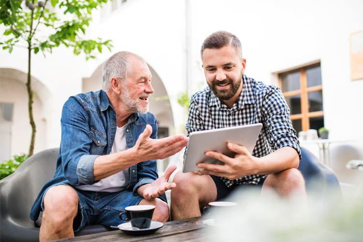 Wer mag, kann sein Tablet gemeinsam mit anderen Familienmitglieder nutzen