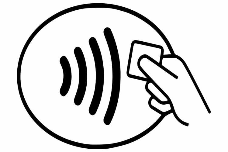 Am Funkwellen-Symbol lassen sich NFC-fähige Geräte schnell erkennen