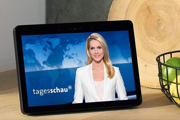 Amazon Echo Show 2. Generation streamt auch Nachrichten