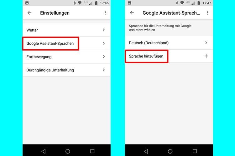 """Im Menüpunkt """"Google Assistant-Sprachen"""" in der Google Home-App können neue Sprachen hinzugefügt werden"""