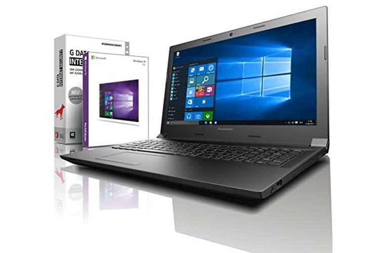Das Lenovo Notebook von shinobee kommt mit vorkunfiguriertem Windows 10 Pro und Libre Office