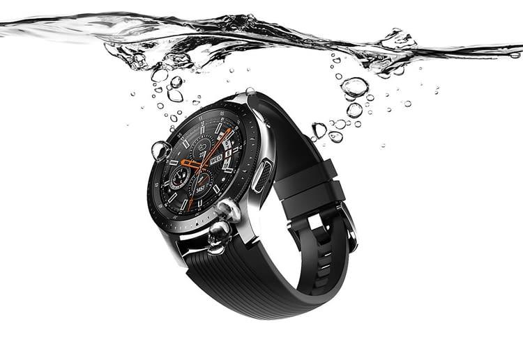 Wasserresistent und damit outdoor-tauglich: Samsung Galaxy Watch