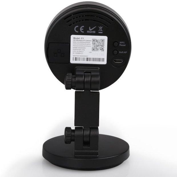 Rückansicht der Foscam C1 HD IP Kamera