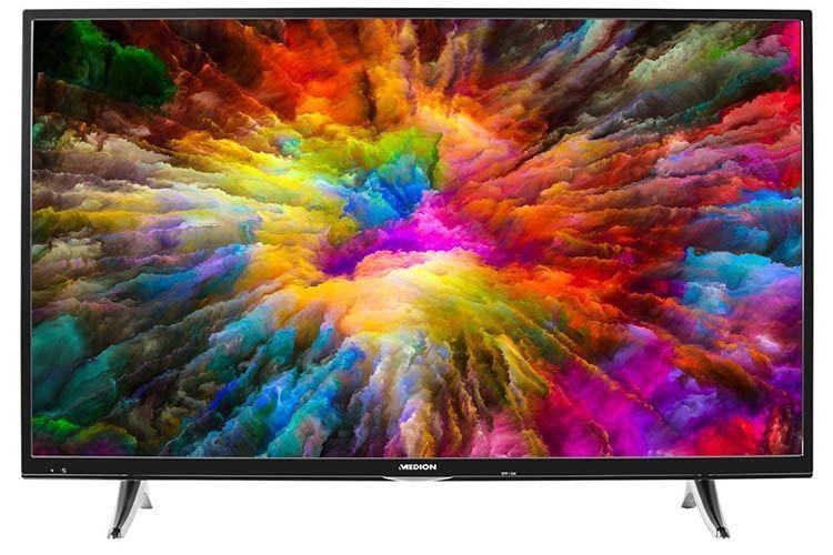 Bietet Bluetooth, HDR und ein 49 Zoll Bilderlebnis - der MEDION X14911 Smart TV
