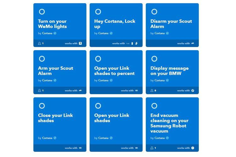 Über IFTTT sind viele Drittanbieter Cortana-kompatibel