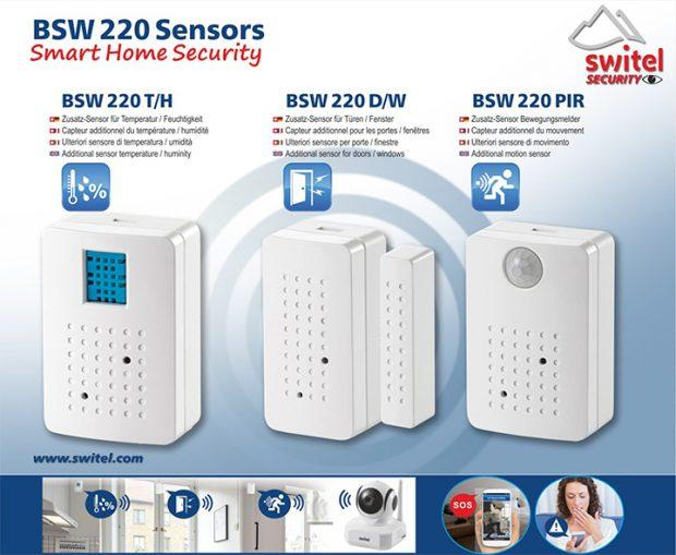 Die Sensoren des Smart Home Security Kit BSW 220