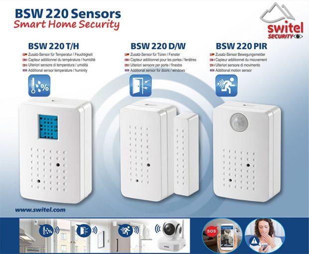 Die Sensoren des Smart Home Security Kit BSW 220