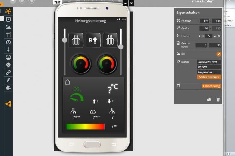 Preview der AIO CREATOR NEO App im Testmodus