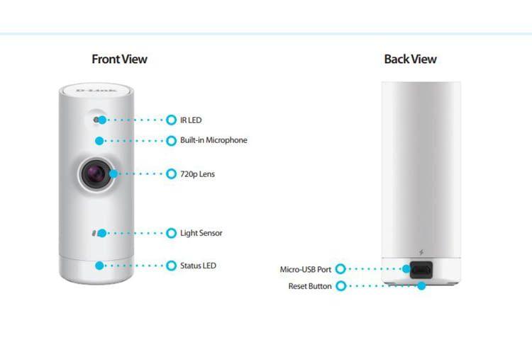 Mini HD WiFi Camera DCS-8000LH ist besonders kompakt