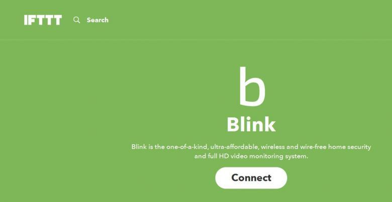 Blink IFTTT-Channel Startseite