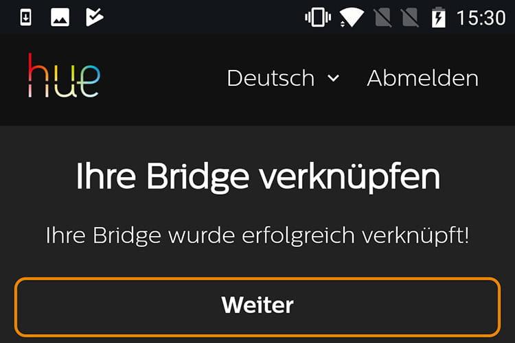 Finale: Amazon Alexa und die Philips Hue Bridge haben sich verknüpft
