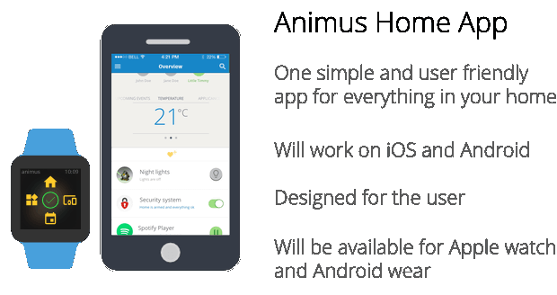 Animus Home App für das Smart Home