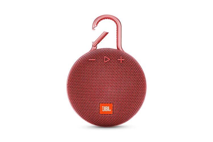 JBL CLIP 3 in roter Farbe: Der portable Bluetooth-Lautsprecher ist ein Hingucker