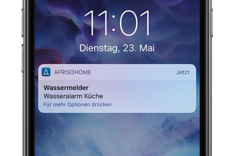 Das Smart Home-System sendet auch offline Warnmeldungen ans Smartphone
