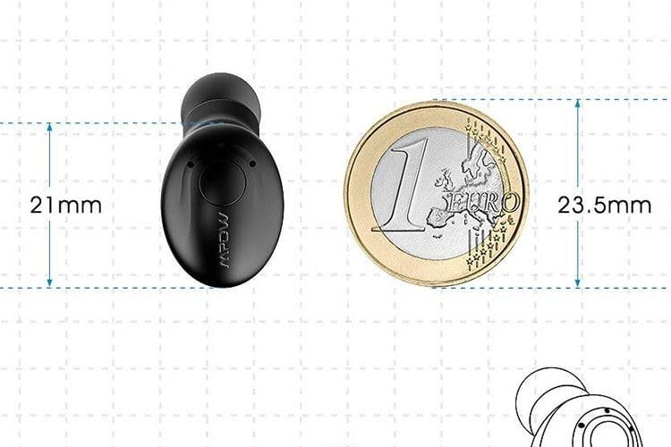 Der Mpow EM1 In-Ear-Bluetooth-Kopfhörer ist kleiner als eine Münze