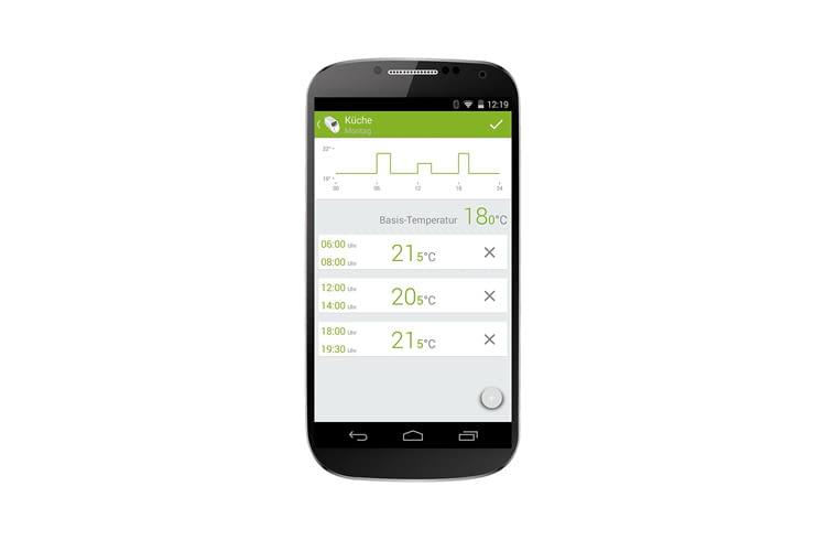 Per App lassen sich über den Tag verteilt verschiedene Temperaturen vorgeben