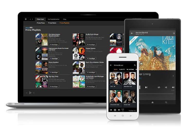 Amazon Music Unlimited lässt sich via App auf vielen Geräten abspielen, ausgenommen beim Unlimited-Abo für Echo