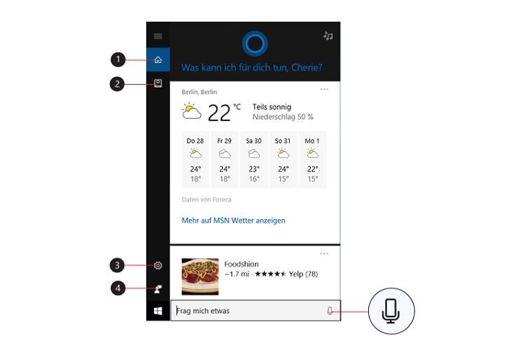 Einige Funktionen von Cortana im Überblick