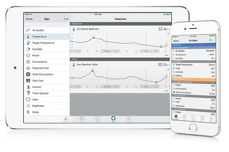 Übersicht über die Funktionen des Eve Motion in der Eve-App