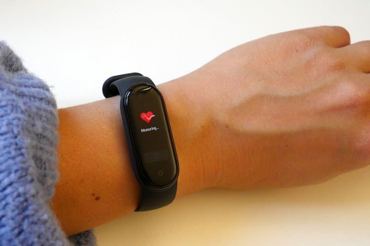 Die Herzfrequenzmessung erfolgte beim Mi Band 5 effizienter als bei unserem Vorgängermodell