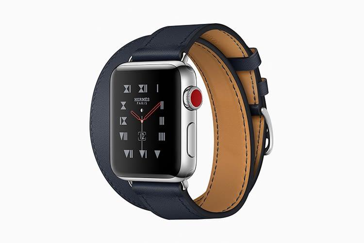 Apple Watch 3 Hermès mit Lederarmband kostet 1299 Euro - ein Sportarmband liegt auch bei