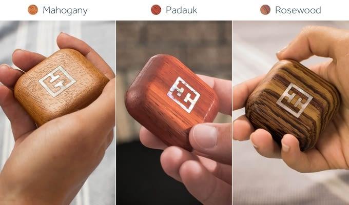Die smarte Fernbedienung Turn Touch gibt es in Mahagoni, Padauk und Rosenholz