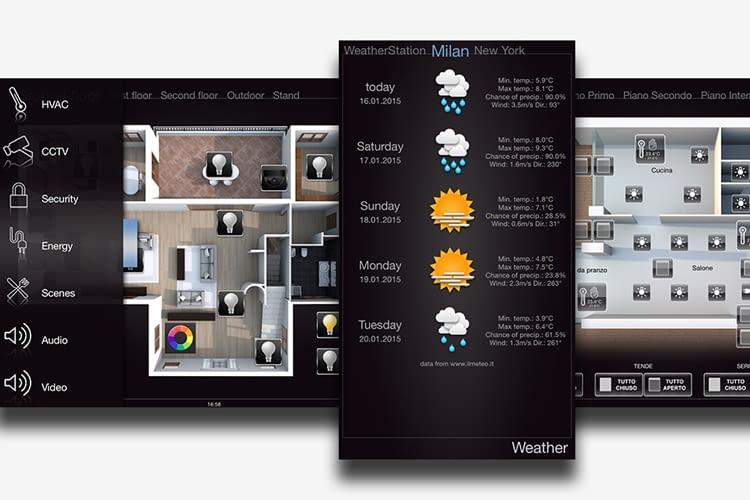 Die grafische Benutzeroberfläche erlaubt die Verwaltung von Funktionen wie Multimedia-Steuerung