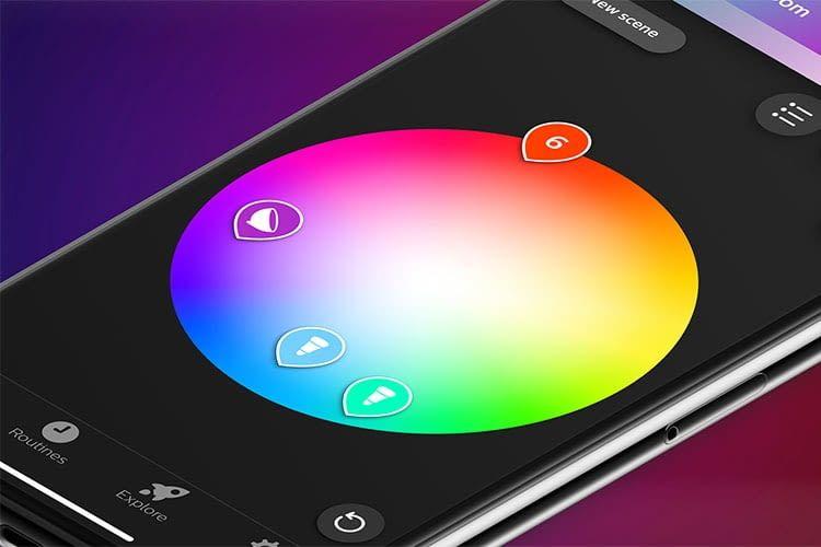 Der Farbenwähler in der Philips Hue App wurde komplett überarbeitet