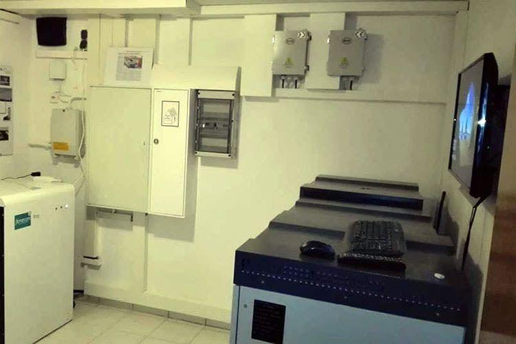 Die Stromspeicher von Andreas Haehnel befinden sich im Keller des Hauses