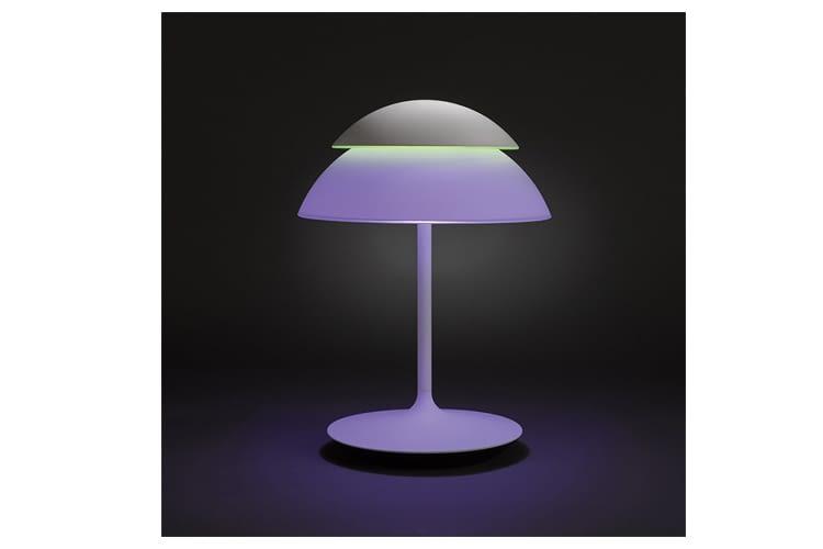 Die Philips Hue LED Tischleuchte Beyond  kann 16 Mililonen Farben wiedergeben