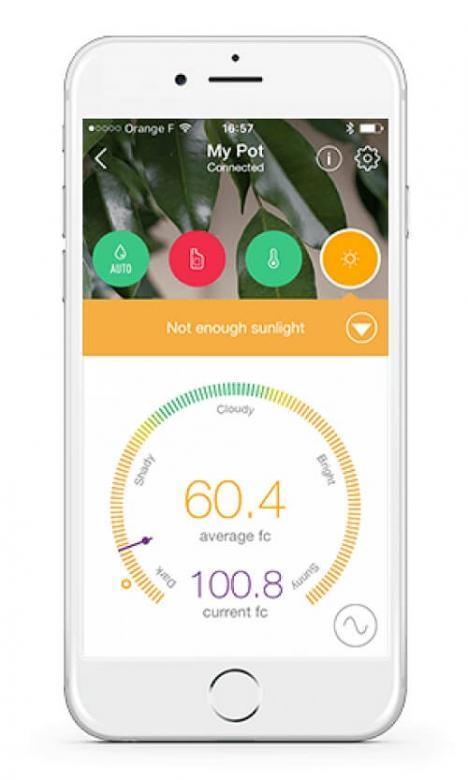 Abbildung der neuen Parrot Pot Flower Power App