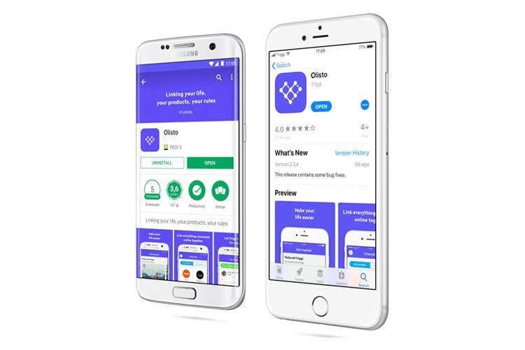 Die Olisto-App ist für iOS und Android verfügbar