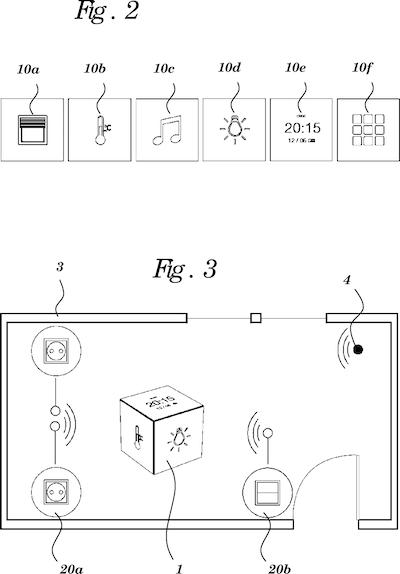 patent von google w rfel hnliche smarthome fernbedienung. Black Bedroom Furniture Sets. Home Design Ideas