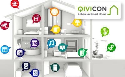 Abbildung QIVICON und Telekom Smart Home - Steuerungsmöglichkeiten im Zuhause