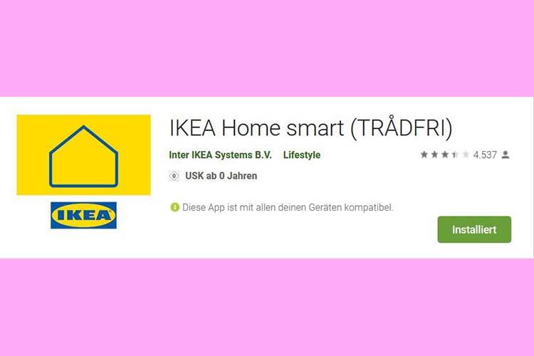 In der IKEA Home smart App wird der ehemalige Markenname nur noch in Klammern geführt