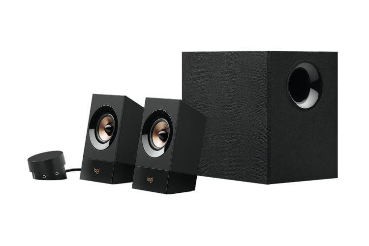 Dank des zusätzlichen Subwoofers bieten die Logitech Z533 PC-Lautsprecher einen hervorragenden Sound
