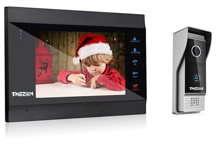TMEZON WLAN Video-Türsprechanlage (MZ-IP-V739W) ist in Wirklichkeit eine Kabel-Anlage. Das WLAN dient der App-Bedienung
