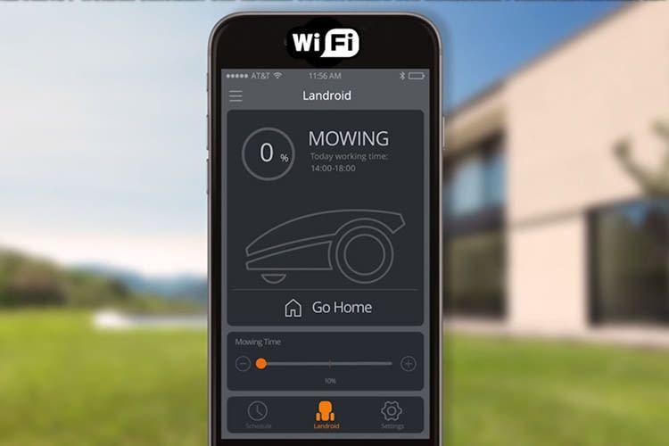 Der Mähroboter Worx Landroid SO500i kann via App gesteuert werden
