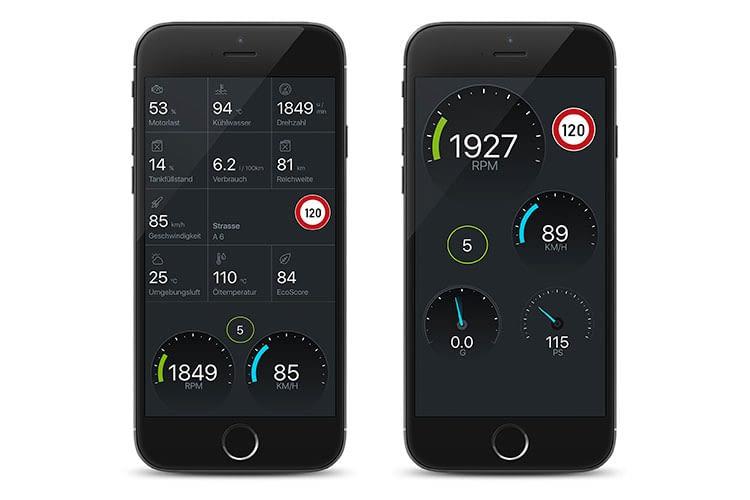 Die Fahrzeugdatenauswertung der PACE Car App lief nicht reibungslos, der Spritspartrainer dafür schon