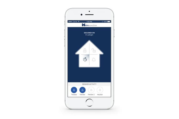 Die Heimwaechter-App informiert auch über offen gelassene Fenster