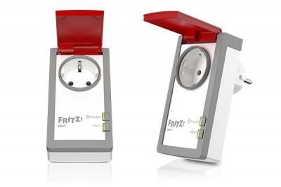 Abbildung der schaltbaren Steckdose FRITZ!DECT 210 für den Innen- und Aussenbereich