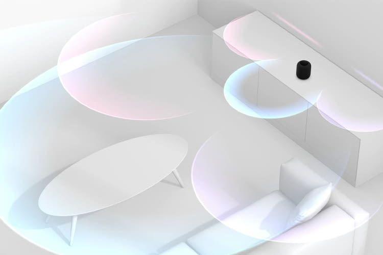 HomePod ist so intelligent, dass er seinen Standort im Raum erkennt und den Klang daran anpasst