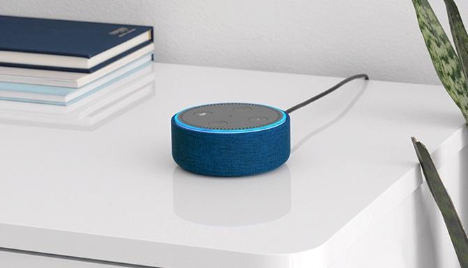 Echo Dot von Amazon angeschlossen und aktiviert