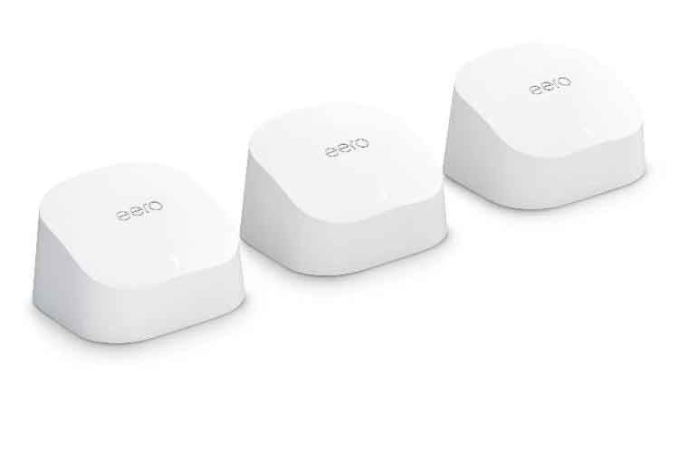 Media Markt Deal: Das Amazon eero 6 WLAN-Mesh-Set besteht aus einem Mesh-Router und zwei Signalverstärker