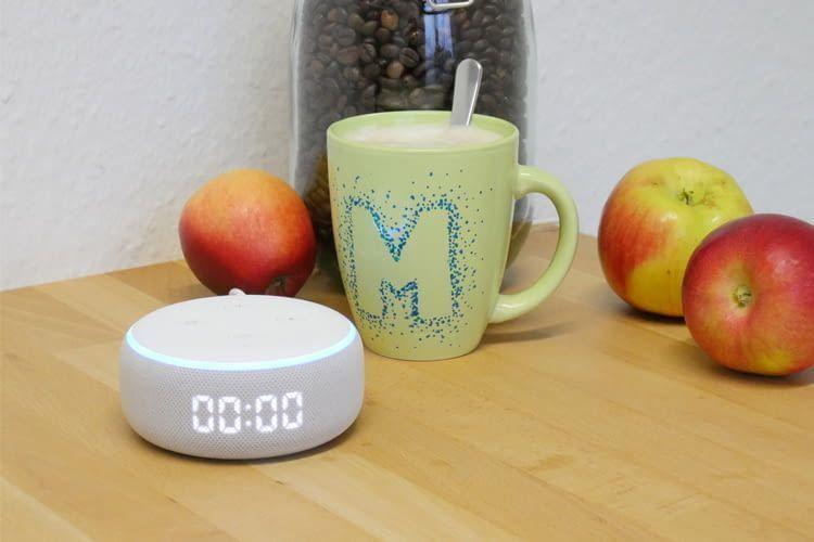 Die Echo Dot Variante mit LED-Anzeige kann Timer auch optisch einblenden