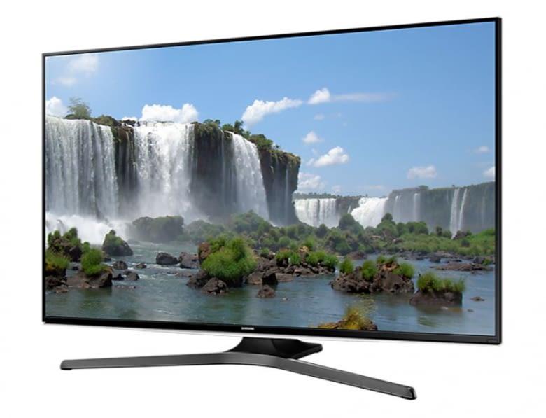Hier findet jede Box ihren Platz: Der Samsung Flat LED Smart TV J6289