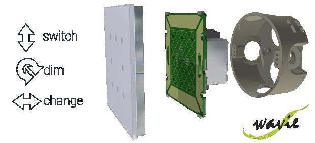 Wavie Lichtschalter Aufbau - der berührungslose Touch Sensor